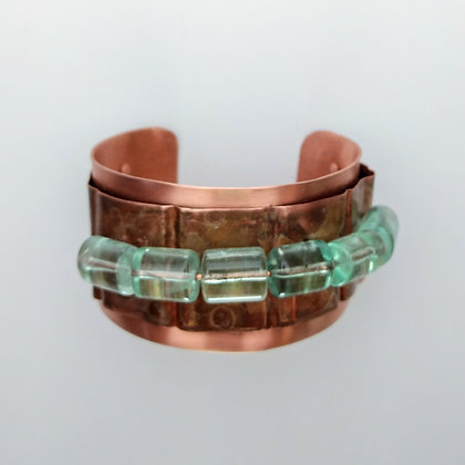 Copper and Fluorite Cuff Bracelet