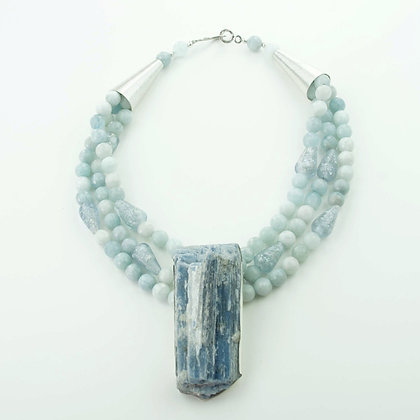 Kyanite and Aquamarine Necklace