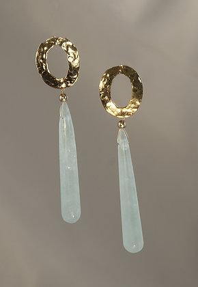 AQGP258410 Aquamarine Earrings