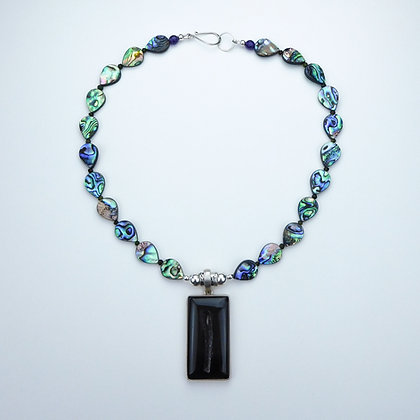 Abalone and Agate Necklace