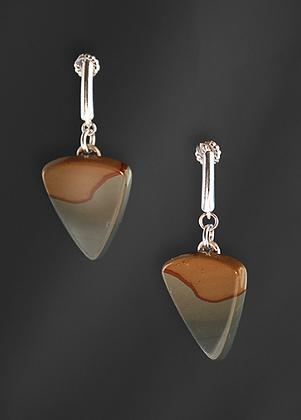 Mexican Jasper Triangle Earrings