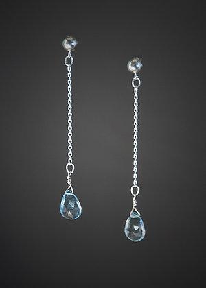 E09236 Blue Topaz Earrings