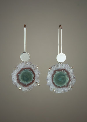Amethyst Stalagtite Earrings