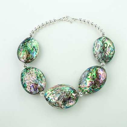 Abalone and Sterling Necklace