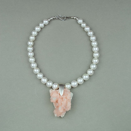 Apophylyte and Pearl Necklace