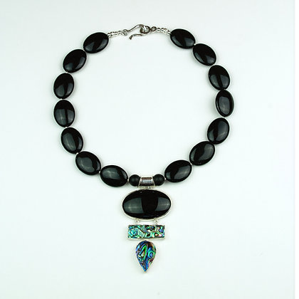 Abalone and Onyx Necklace