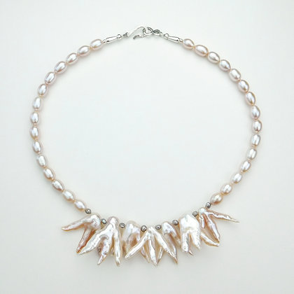 Three-Prong Pearl Necklace