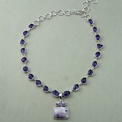 Amethyst and Tiffany Stone Necklace