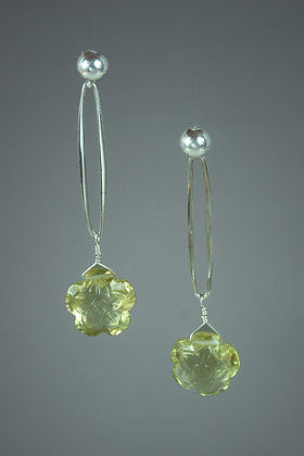 Citrine and Sterling Silver Earrings