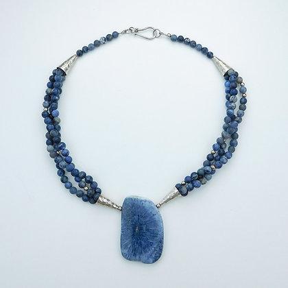 Natural Blue Sponge Necklace