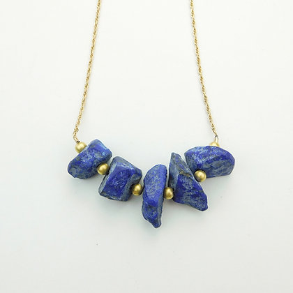 Lapis and Chain Necklace