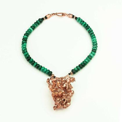 Copper and Malachite Necklace