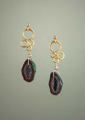 Baby Geode Earrings