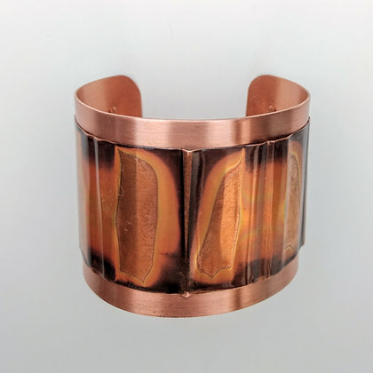 Copper Cuff with Oxidized Band