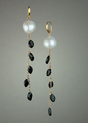 Pearl and Spinel Earrings