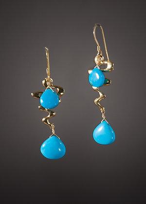 E23734 Turquoise Earrings