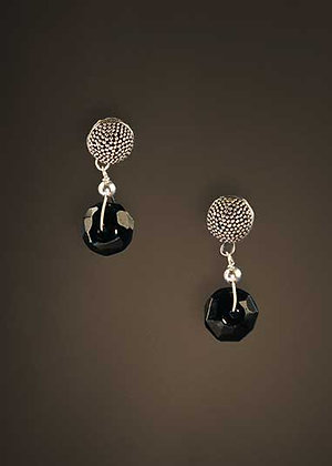 Polished Black Spinel Earrings