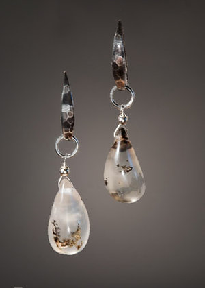 Dendritic Quartz Earrings