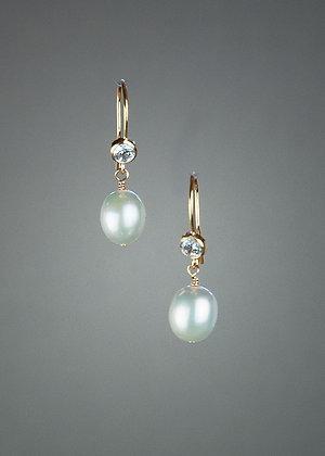 Pearl and CZ Earrings