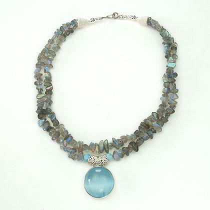 Labradorite and Selenite Necklace