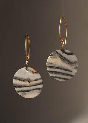 Zebra Stone Earrings