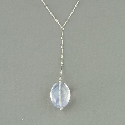 Brazilian Lavender Quartz Chain Necklace