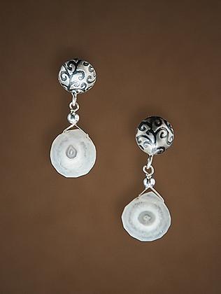 204549 Solar Quartz Earrings
