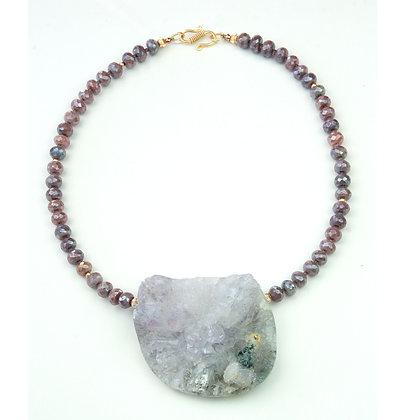 Ruby and Quartz Crystal Necklace