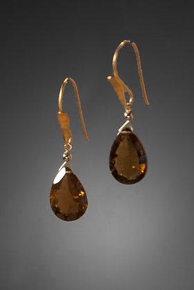 Cognac Quartz Earrings