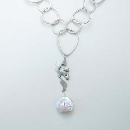 Sterling and Pearl Necklace