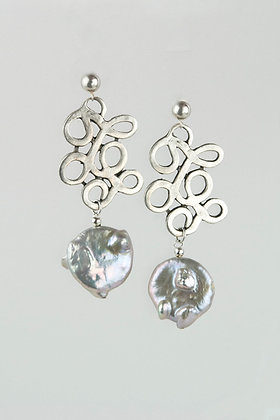 Pearl and Turkish Design Earrings