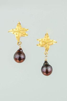 Lustrous Brown Pearl Earrings