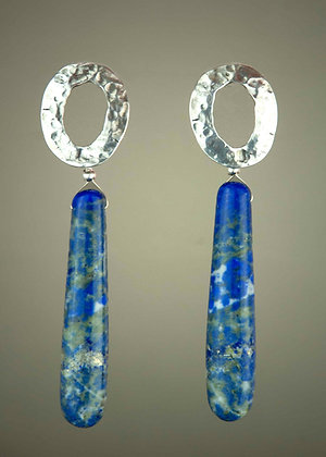 Lazuli and Handcast Sterling Silver
