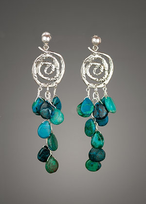 Chrysocholla Earrings