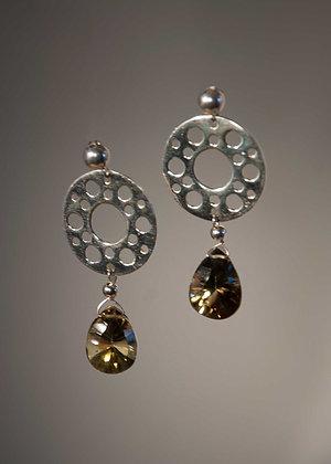 Bi-Color Citrine Faceted Drops Earrings