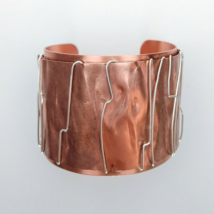 Copper and Sterling Silver Cuff Bracelet