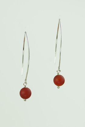 Carnelian and Sterling Earrings