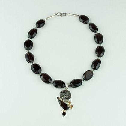 Smokey Quartz with Astrophylite Pendant Necklace