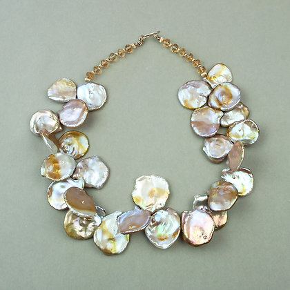 Golden Keshi Pearl Necklace
