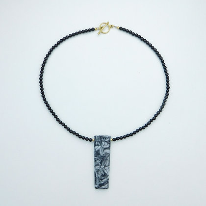Pinolith and Onyx Necklace