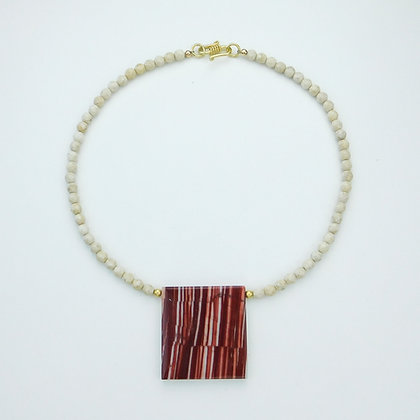 Agate and Bone Necklace