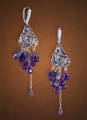 Cascade of Amethysts Earrings
