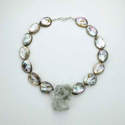 Calcite and Abalone Necklace