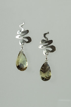 Bi-Color Citrine Earrings