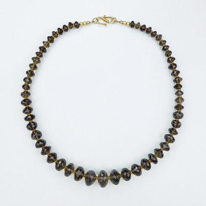 Faceted Smokey Quartz Necklace