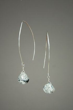 Dendritic Opal and Sterling Silver Earrings