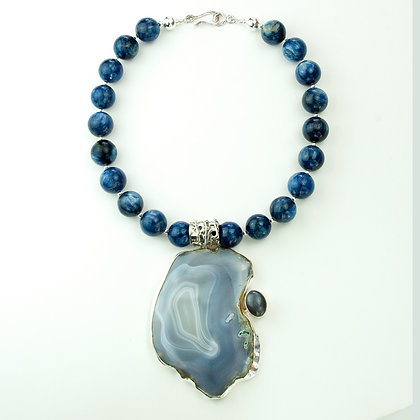 Kyanite and Agate Necklace