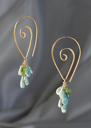 217279 Persian Turquoise Earrings