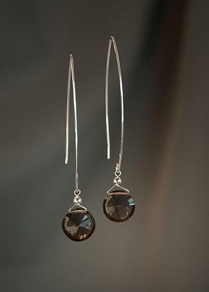 WE15273 Smokey Quartz Earrings
