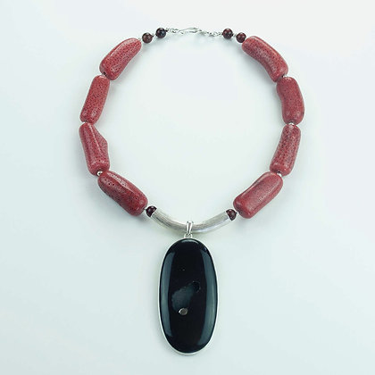 Coral and Agate Necklace